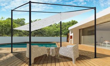 Pergola toit orientable et personnalisable 3 x 4 m ombrière blanche