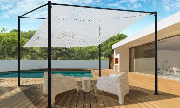 Pergola toit orientable et personnalisable 3 x 3 m ombrière blanche