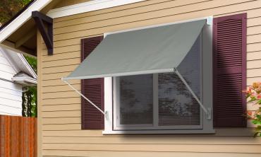 Store banne fenêtre gris