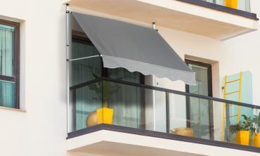 Store banne balcon 300 x 120cm gris