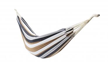 Hamac toile seule - rayé brun