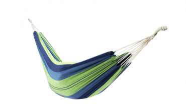 Hamac toile seule - rayé bleu