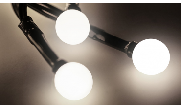 BUBBLE WHITE - Lampe 50 LED