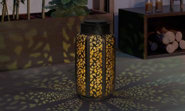 Lanterne solaire motifs orientaux