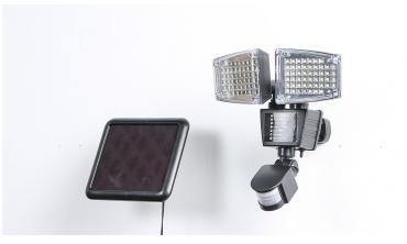 Projecteur LED solaire 2 têtes