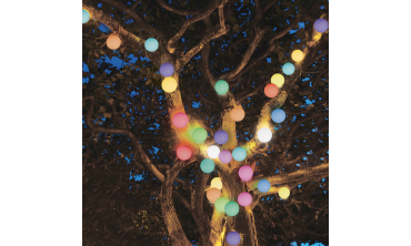 Lampe boule multicouleur avec télécommande - lot de 5