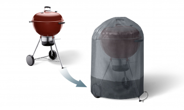 Housse de protection barbecue rond