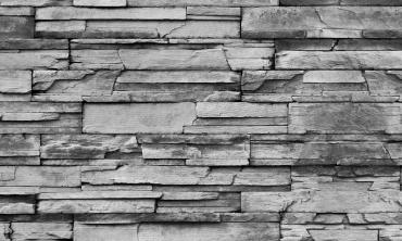 Brise-vue occultant motif effet pierres grises