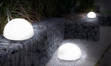 Lampe demi-boule solaire