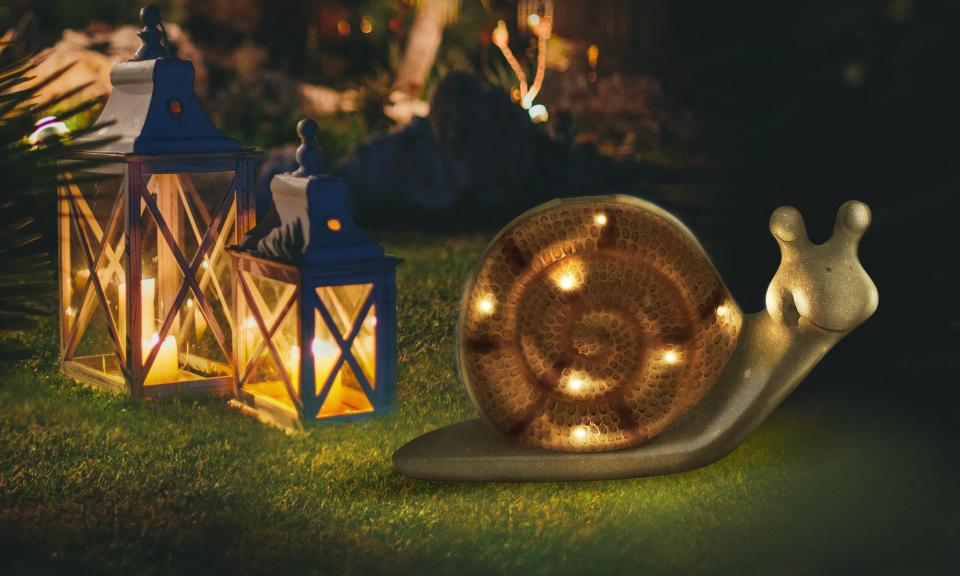 Escargot solaire lampe décorative