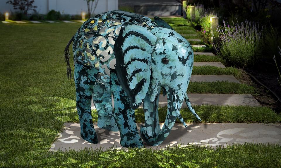 Eléphant solaire lampe décorative