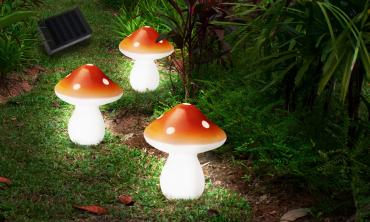 Guirlande solaire à planter Champignon