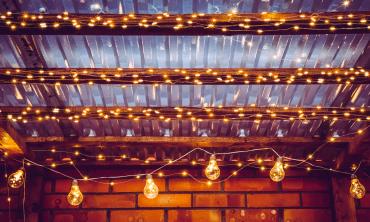 Guirlande solaire jardin LED - blanc chaud