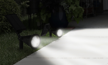 Spot solaire 2 en 1
