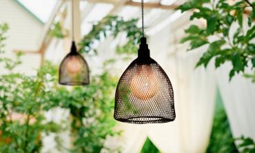 Lampe filaire noire