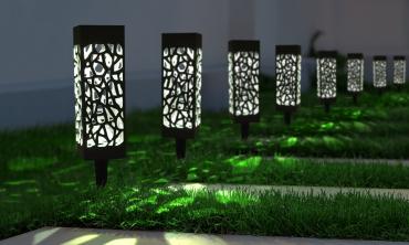 Lampe solaire Mona silver