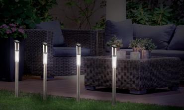 Lampe stick solaire - lot de 4
