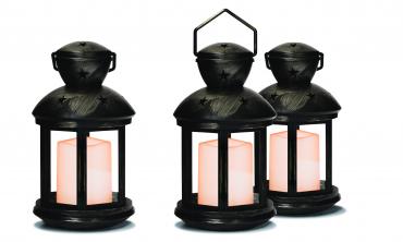 Lanternes à piles - lot de 3