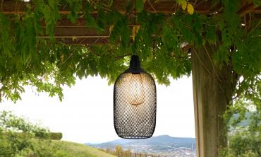 Lampe solaire filaire métal diam 15 cm