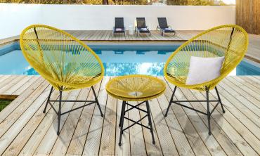 Ensemble de jardin Ibiza jaune