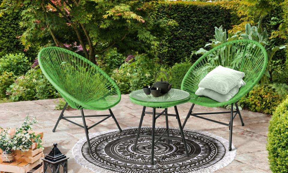 Ensemble de jardin Ibiza vert
