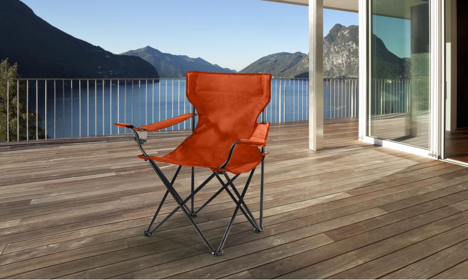 Fauteuil camping/pêche avec housse orange